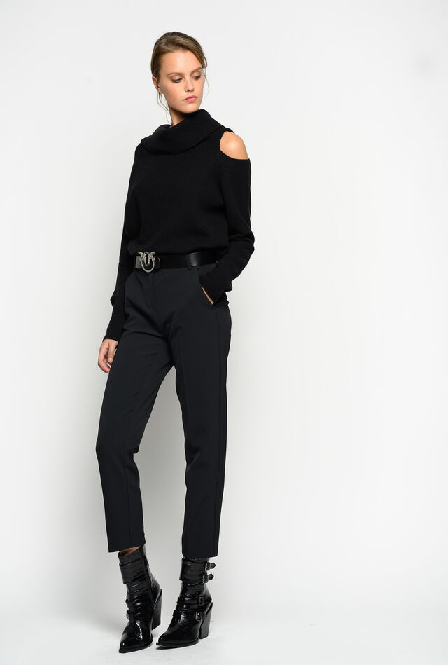 Trousers in double-layer fabric