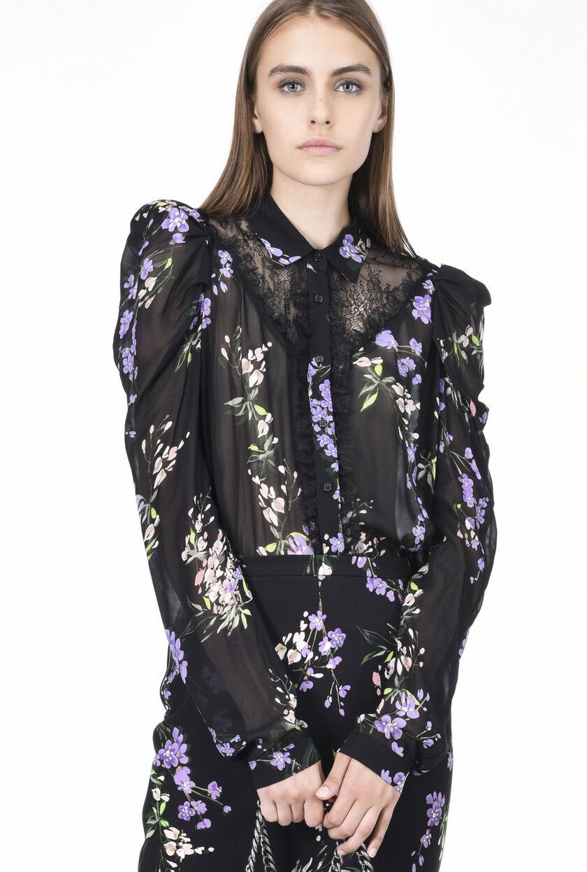 Camicia in georgette stampata