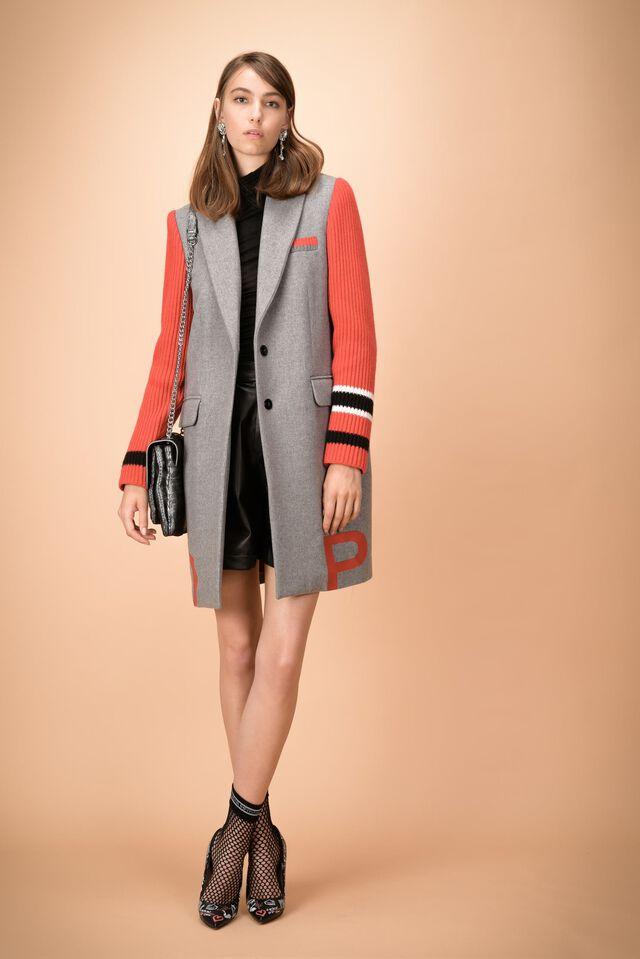 Long coat with maxi logo