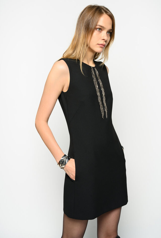Rhinestone fringe dress