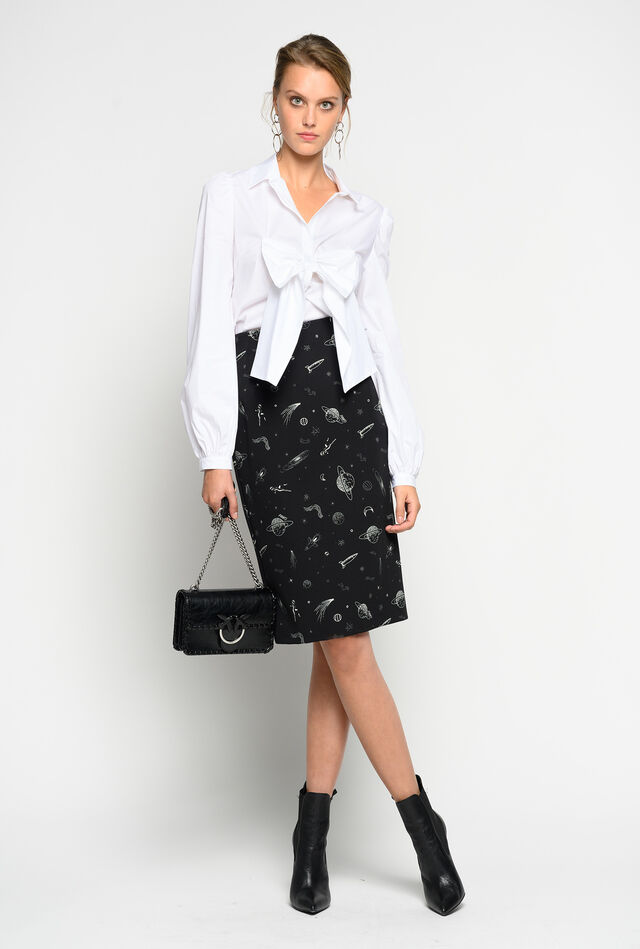 Skirt with planets print