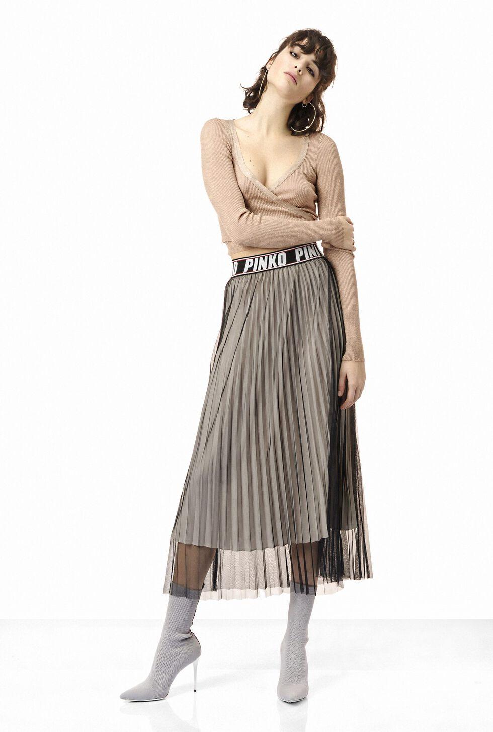 Falda de tul plisado