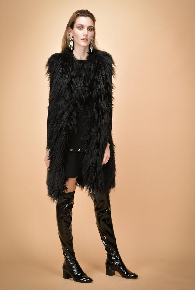 Faux-fur waistcoat
