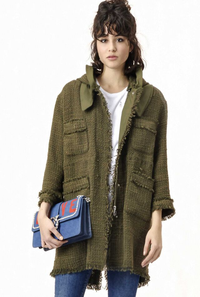 Parka in stoppino boucle