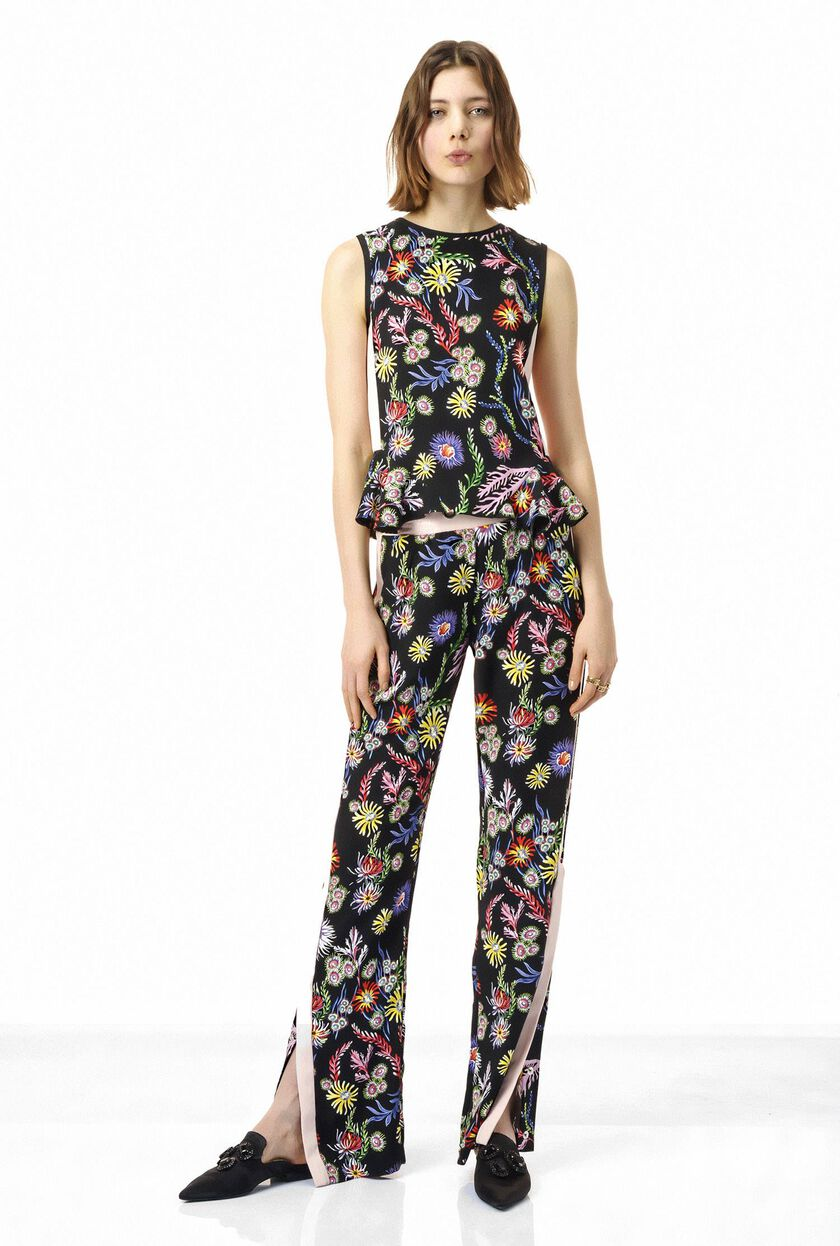 Crepe top with floral print