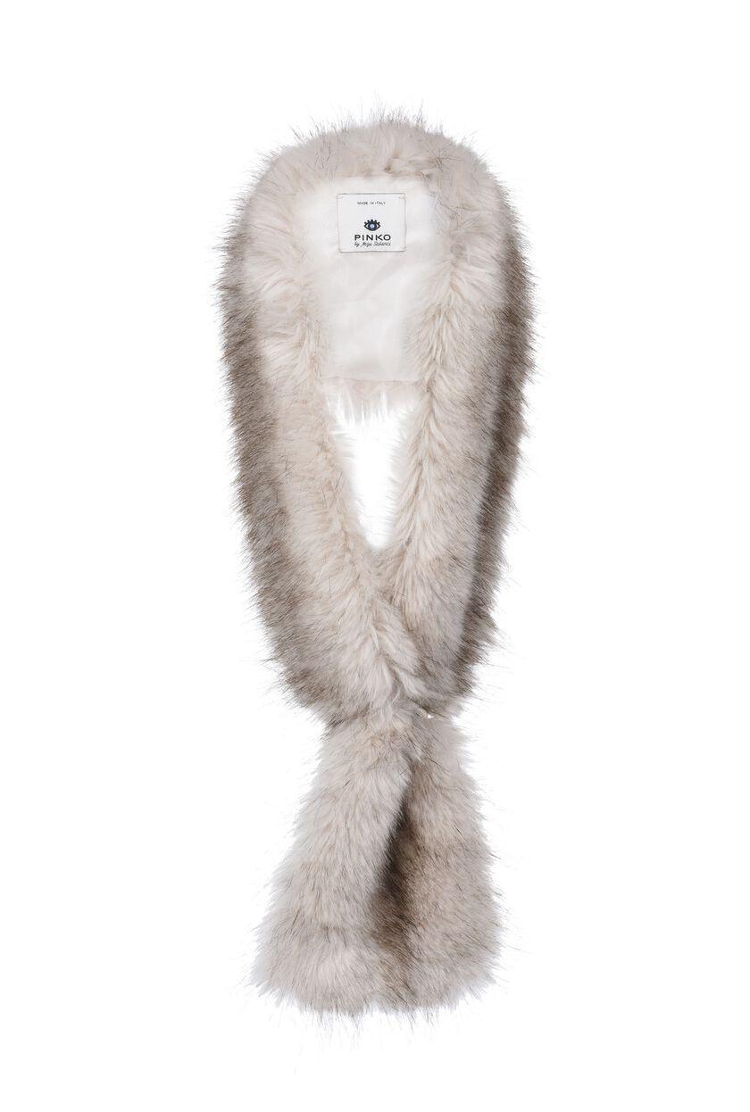 Stola incrociata in eco-pelliccia