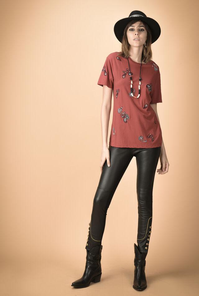 Jersey T-shirt with bandana embellishments