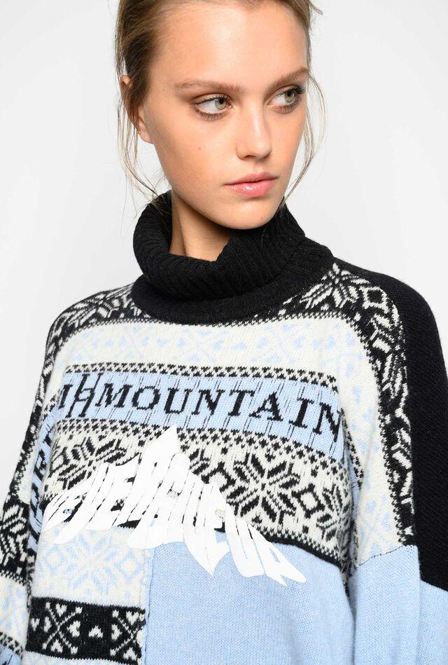 Maxi suéter motivo noruego
