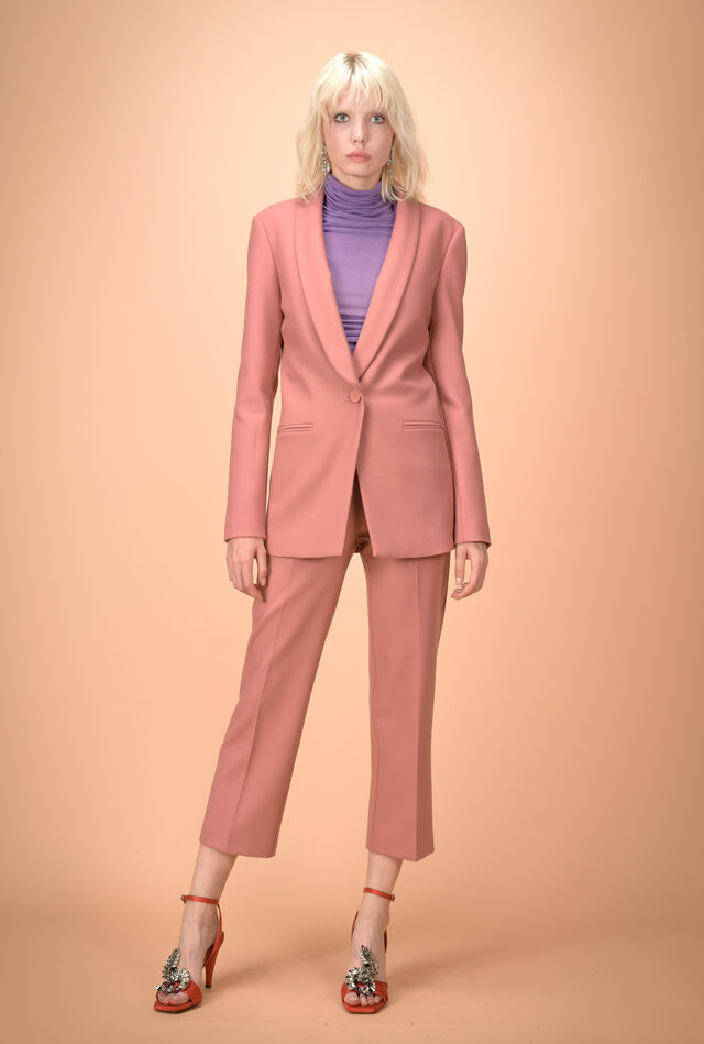 Double-layer wool fabric jacket