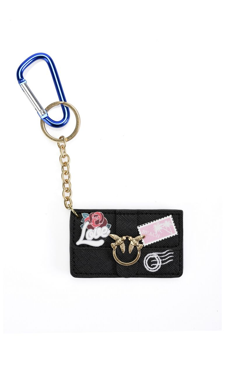 Faux leather key ring