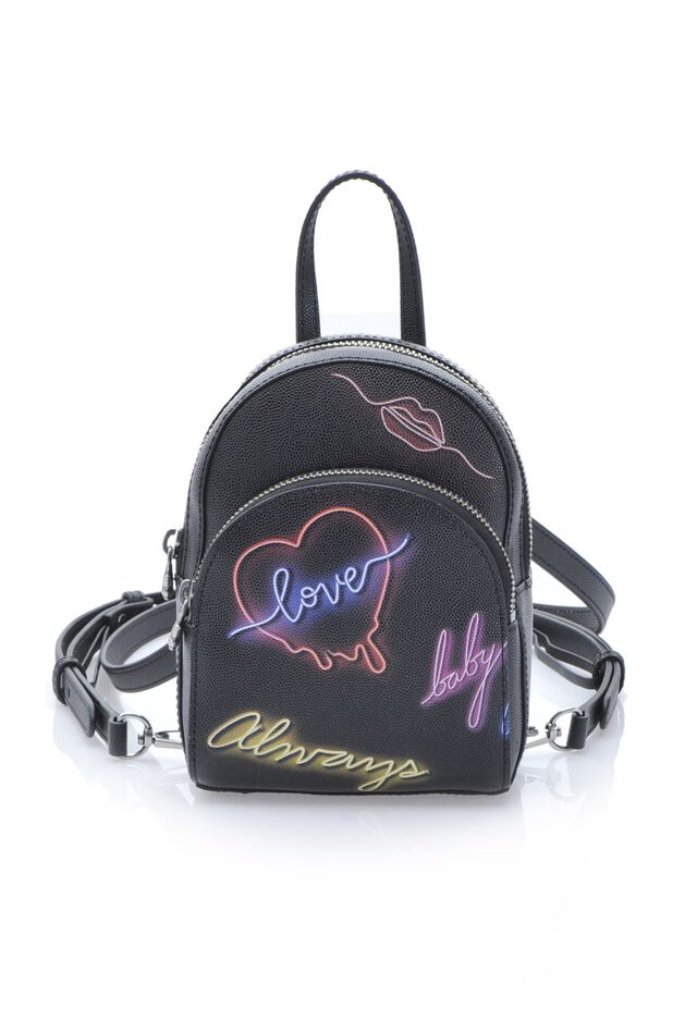 Baby Backpack Neon in pelle caviar