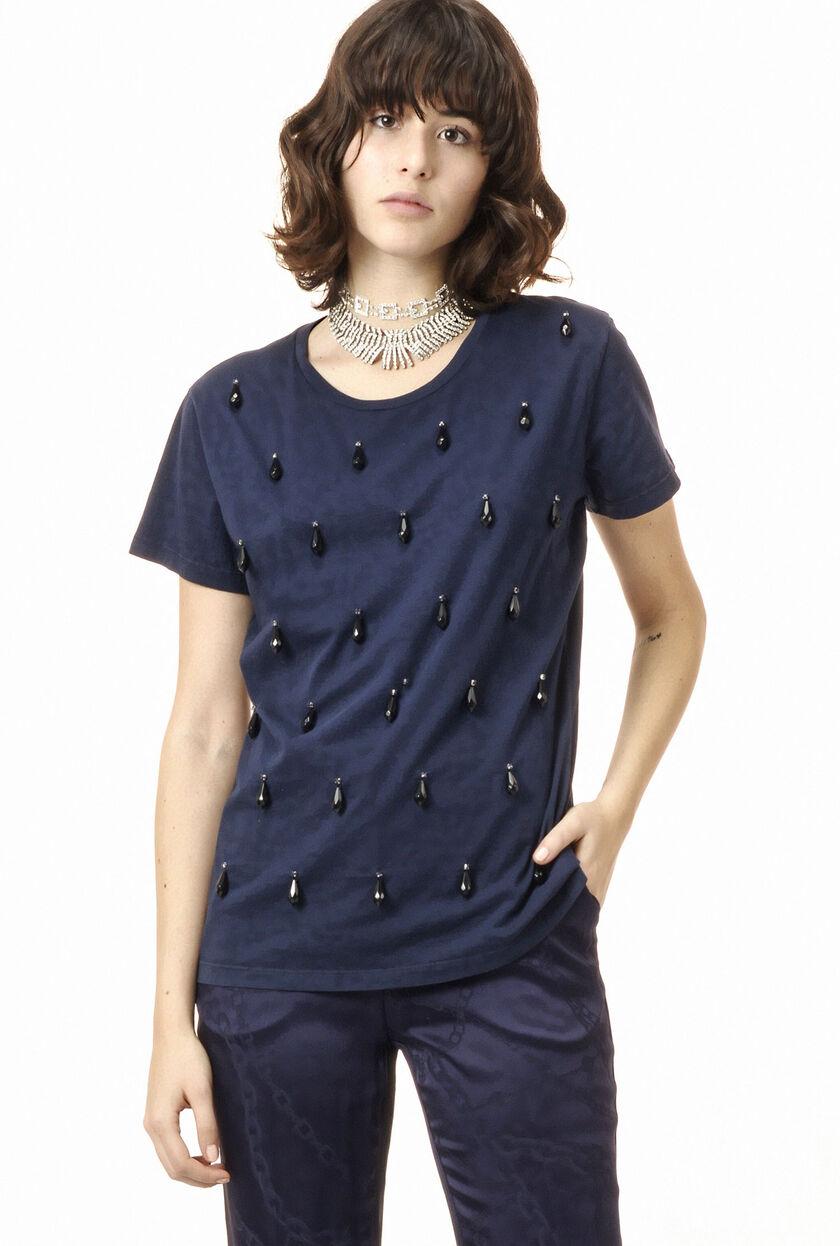 Camiseta de tejido jersey con aplicaciones