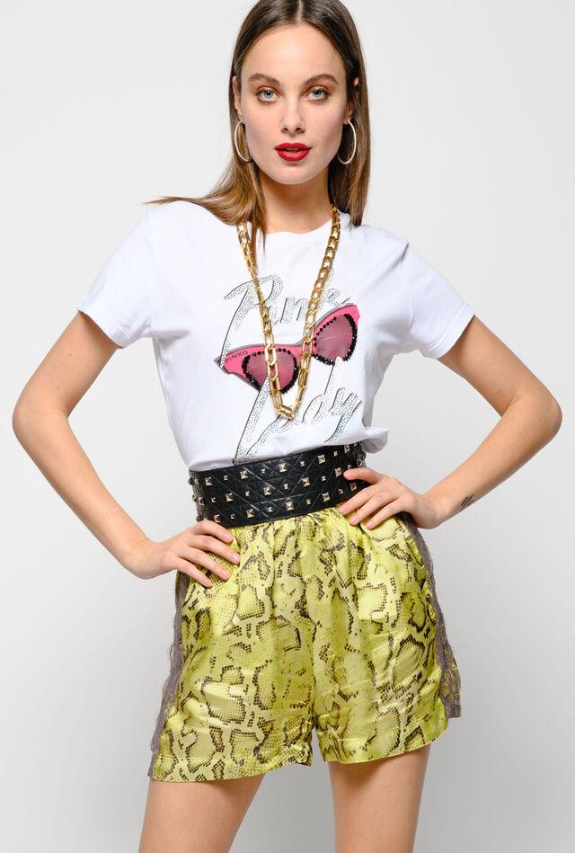 Pink Lady cotton jersey T-shirt