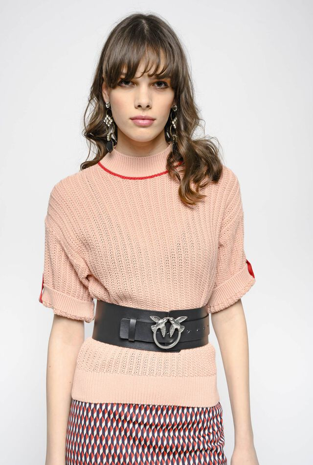 Punched rib cotton top