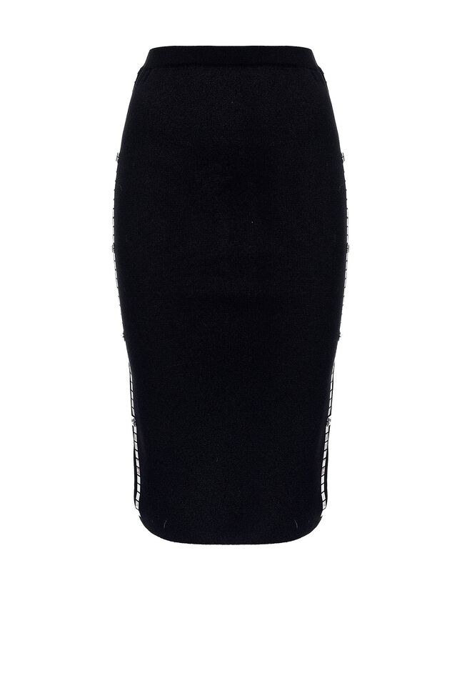 Skirt with side stripe