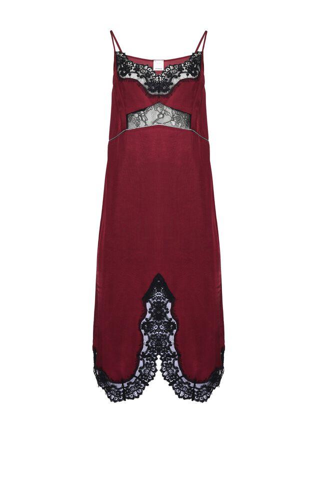 Vestido lencero con aplicaciones de encaje