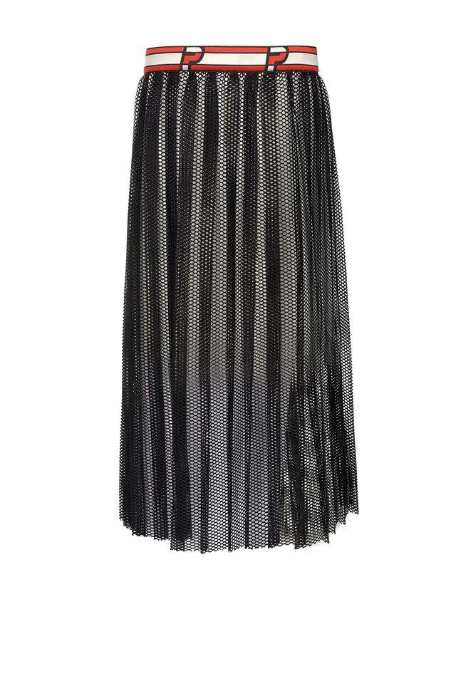 Falda midi en tejido efecto red