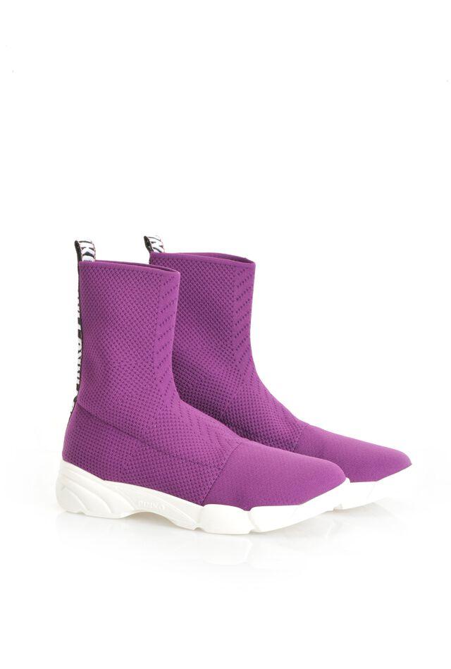 Sneakers in maglia stretch e nastro logato