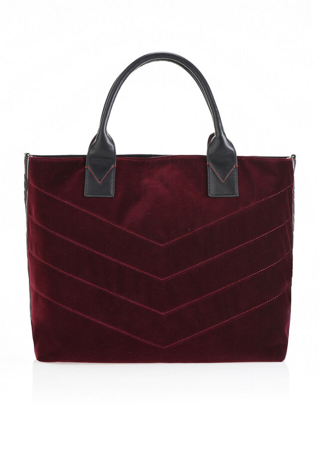 Maxi shopper in quilted velvet