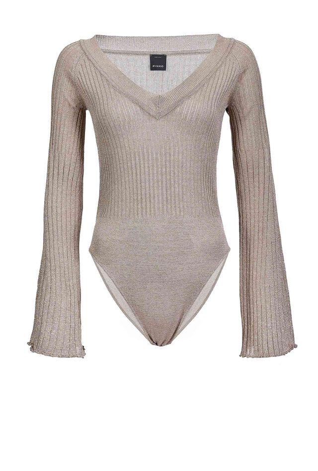 Lurex knit bodysuit