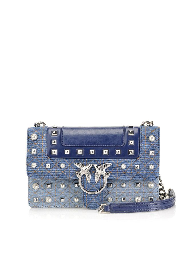 Love Bag Jeans in denim and leather