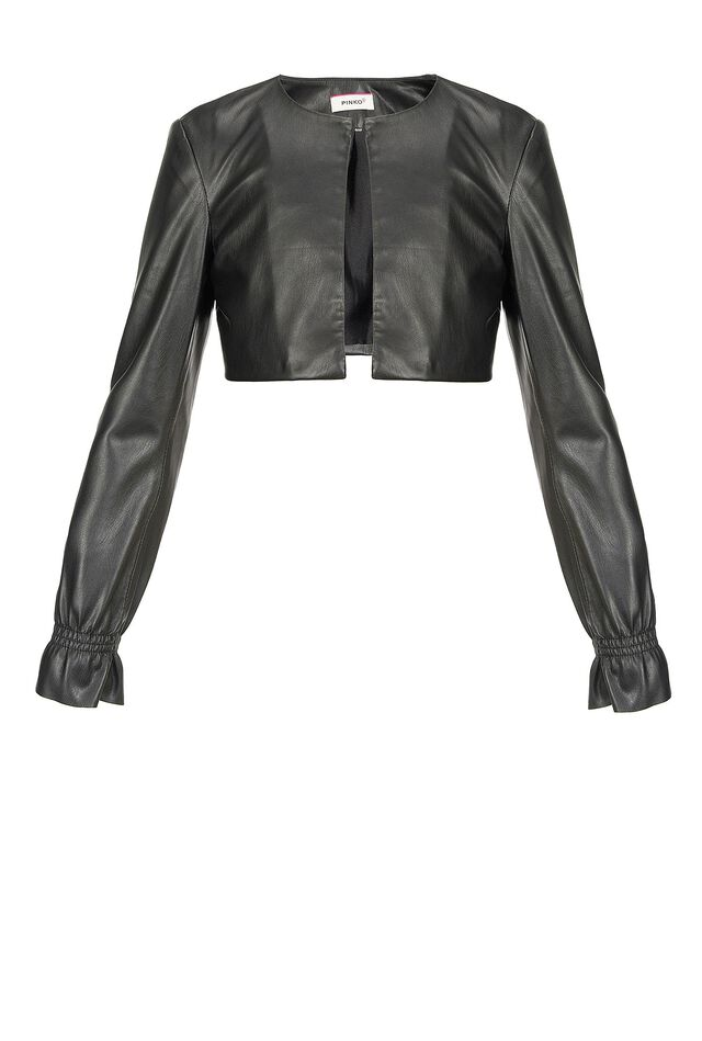 Leather-look shrug