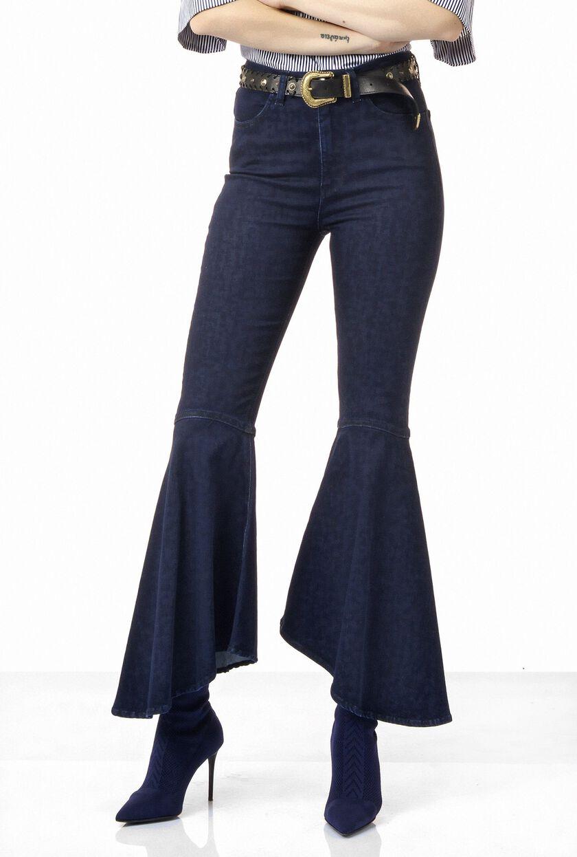 Five-pocket trousers in comfort fit blue denim
