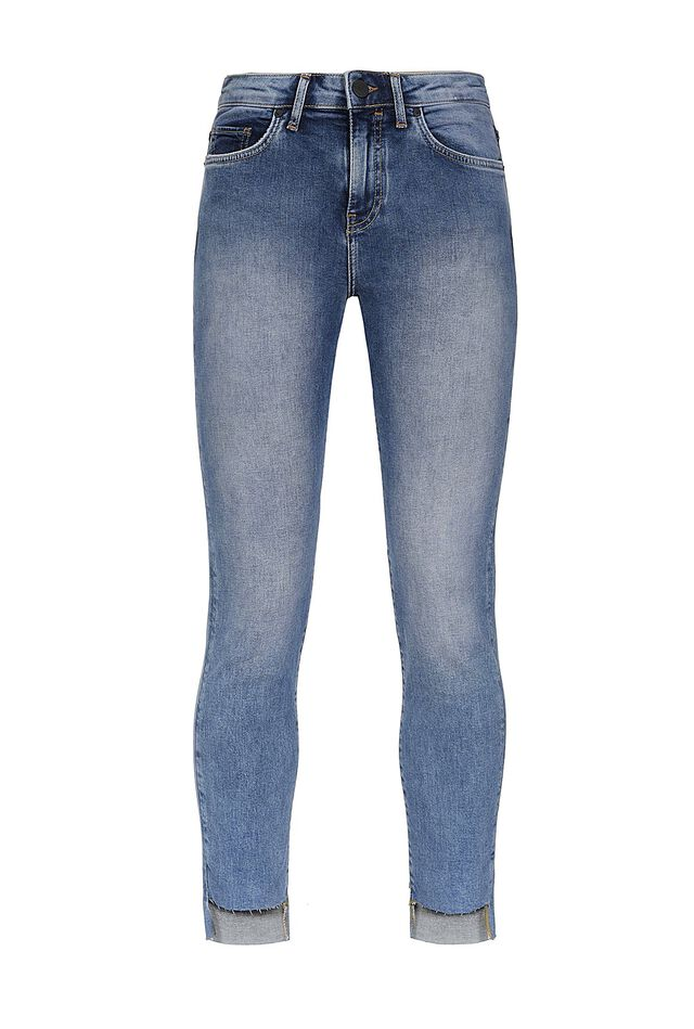 Jeans skinny cropped asimmetrici