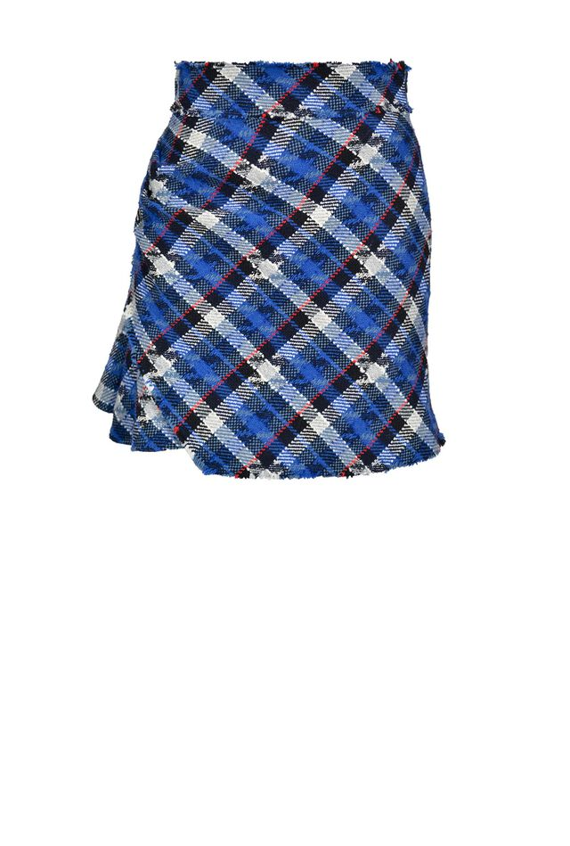 Houndstooth tweed skirt