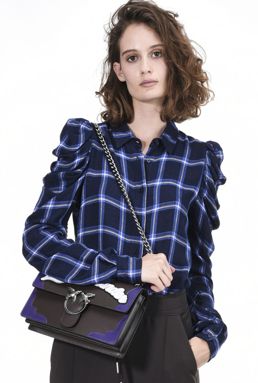 Camicia in crepe di viscosa checked