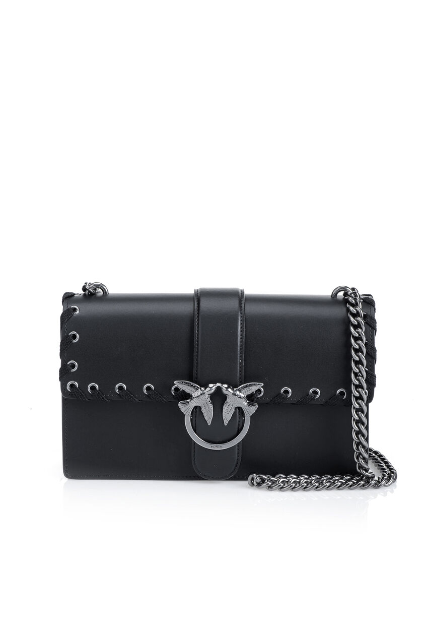 Nappa calfskin leather Love Bag with corset detail