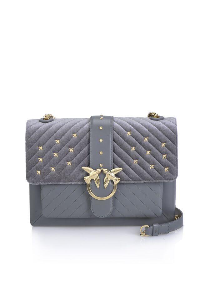 Velvet and quilted leather Big Love Bag