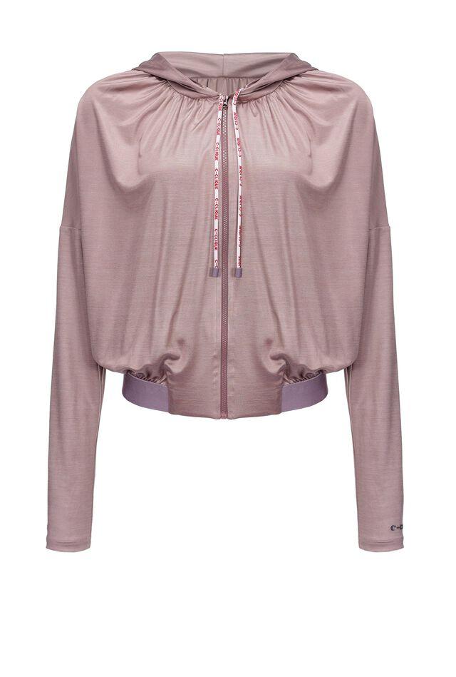 Glossy interlock sweatshirt