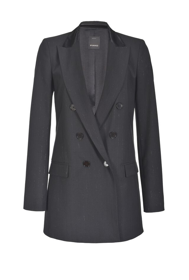 Lurex pinstripe blazer