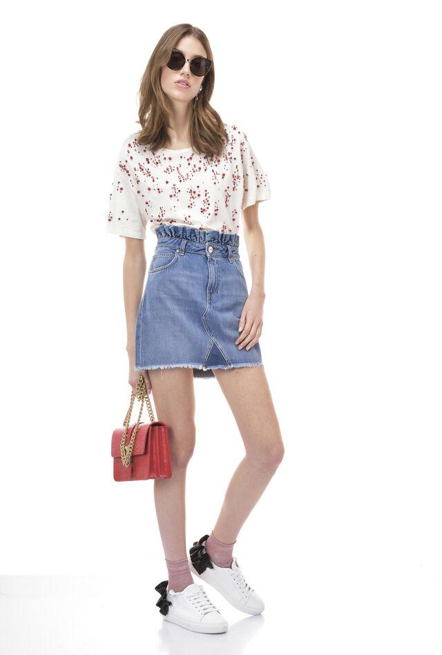 Denim miniskirt