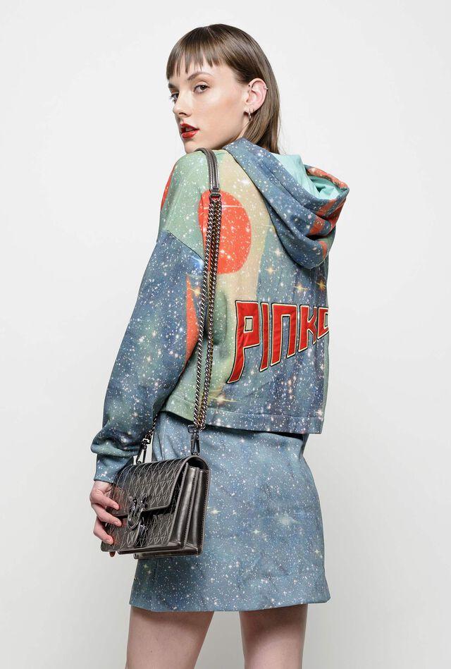 Cropped Space print sweatshirt