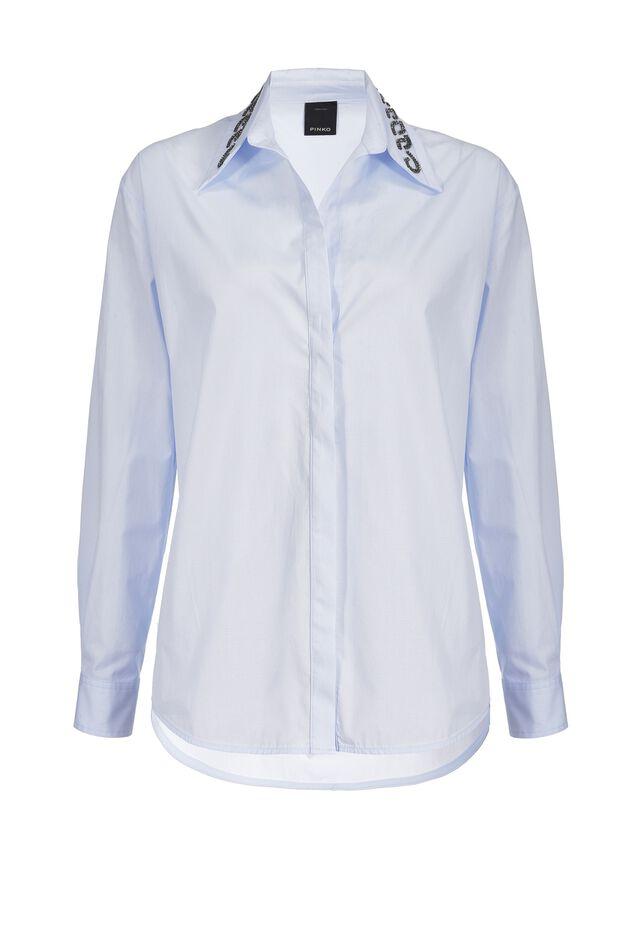 Camicia con ricamo sul colletto