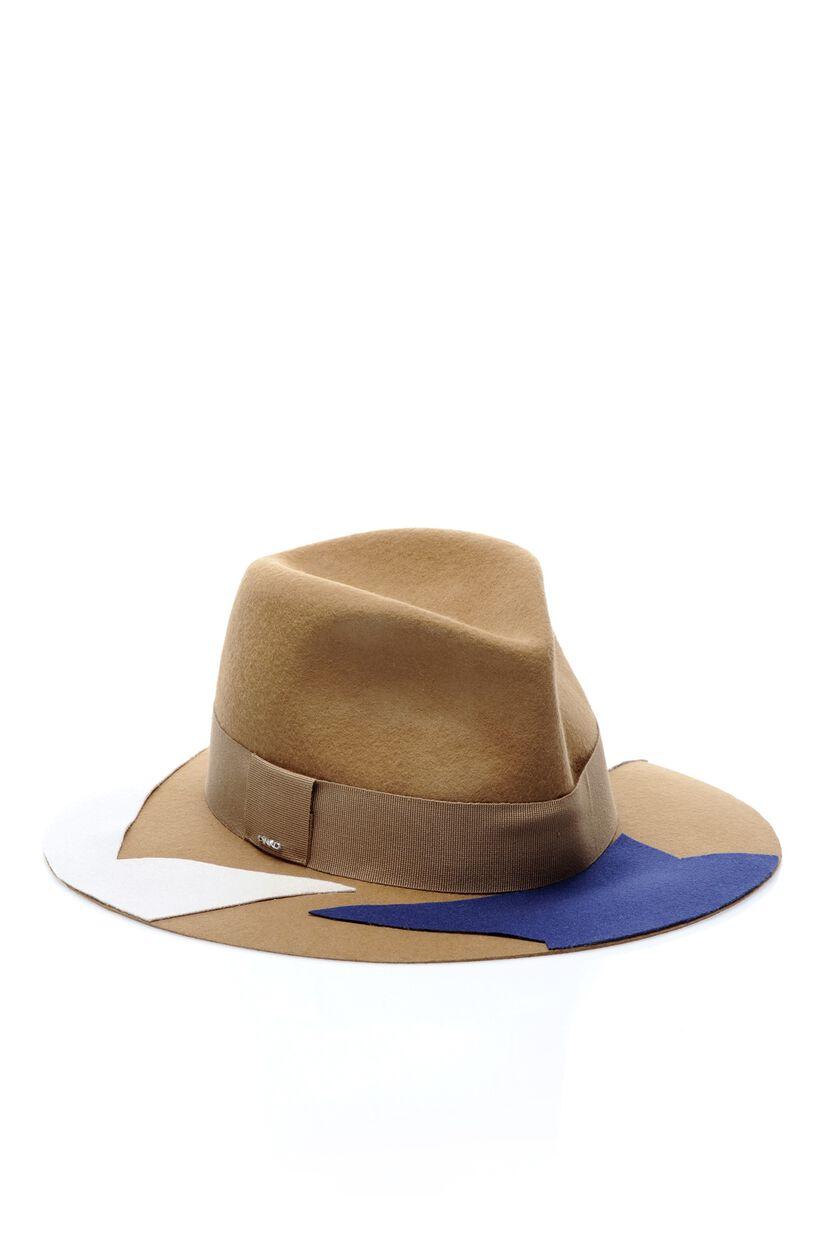 Multi-colour felt hat