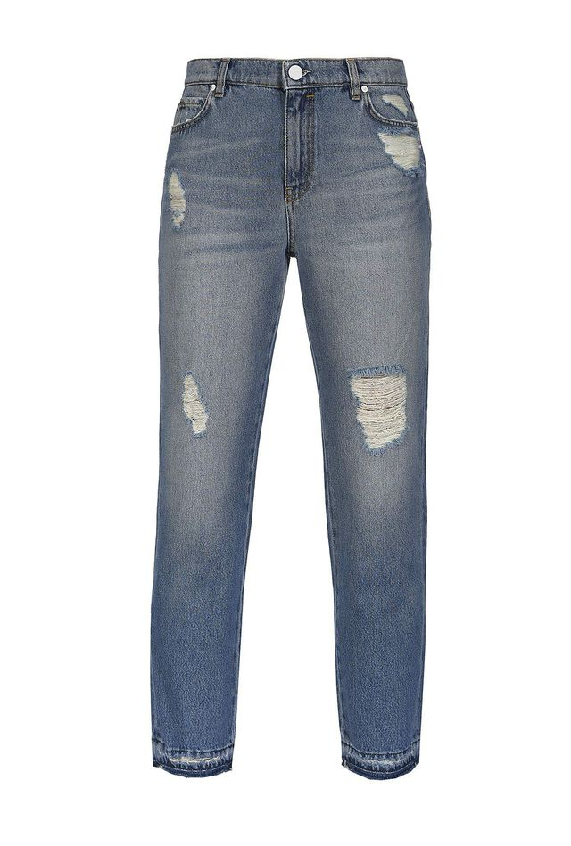Jeans cigarette-fit in denim vintage