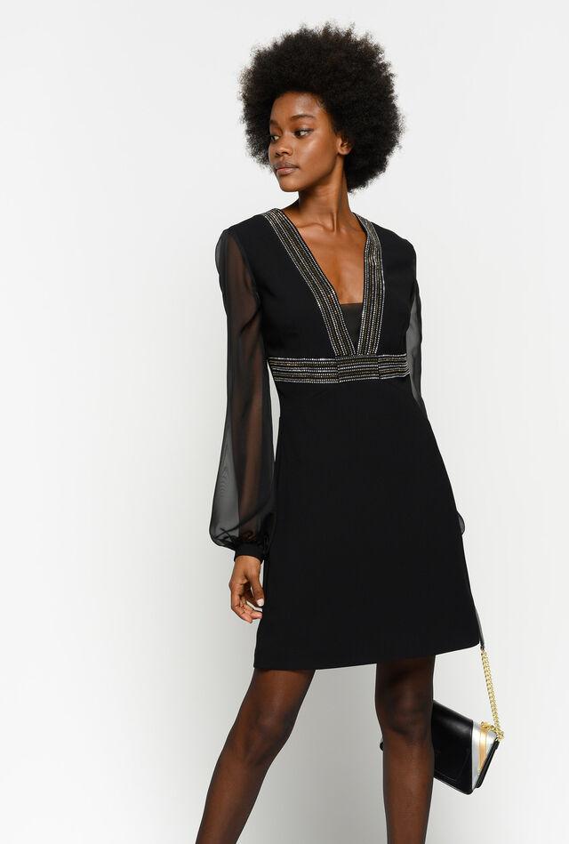 Dress with mini studs