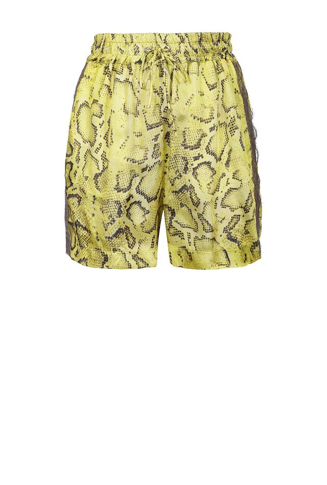 Shorts in twill stampa snake