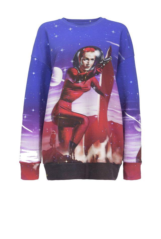 Oversize Space print sweatshirt