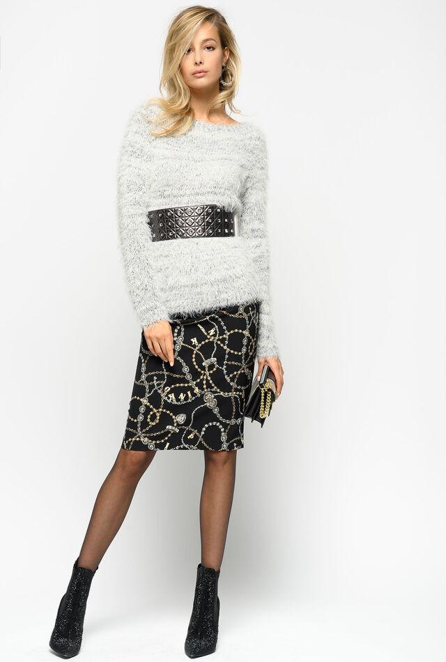 Falda con estampado joya