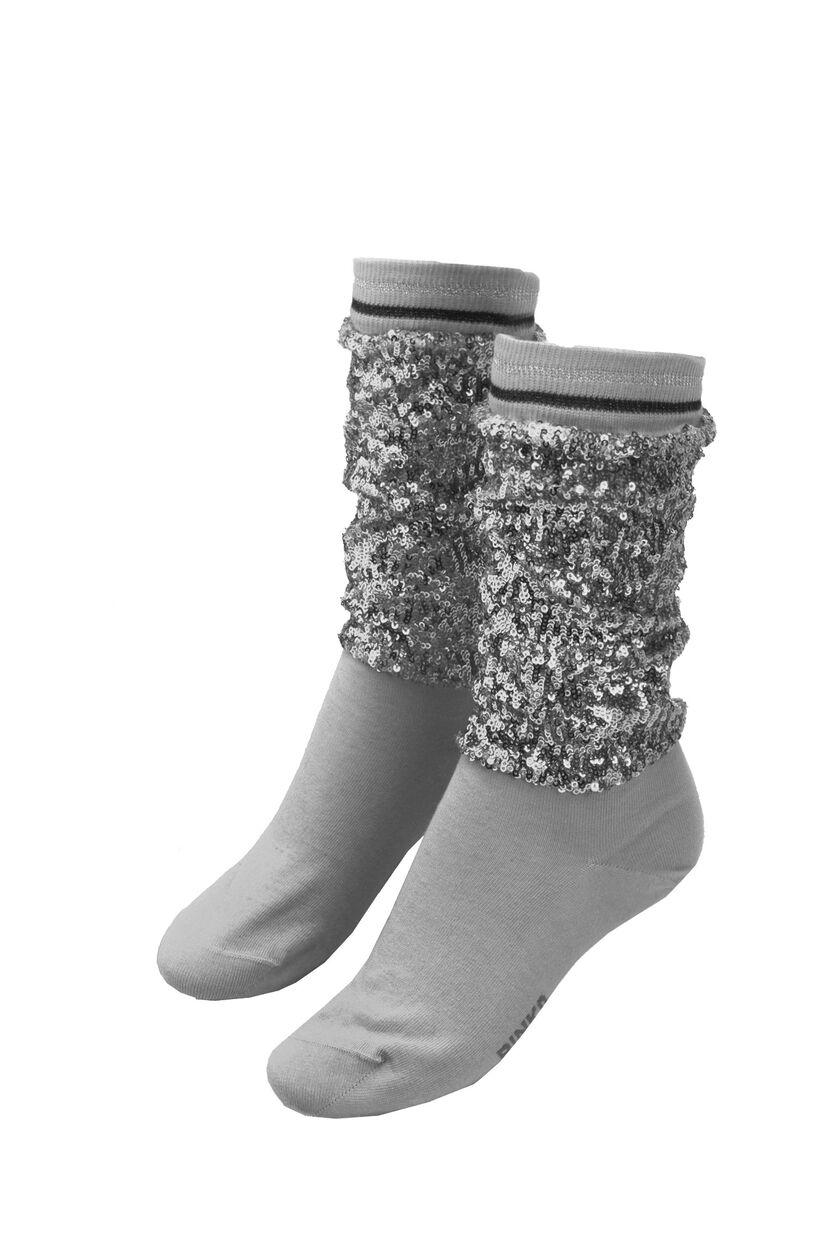Calzino in cotone con paillettes e lurex
