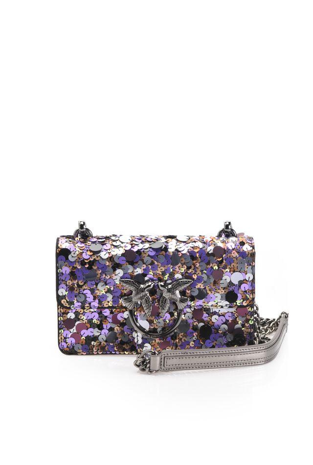 Mini Love Bag Paillettes in pelle