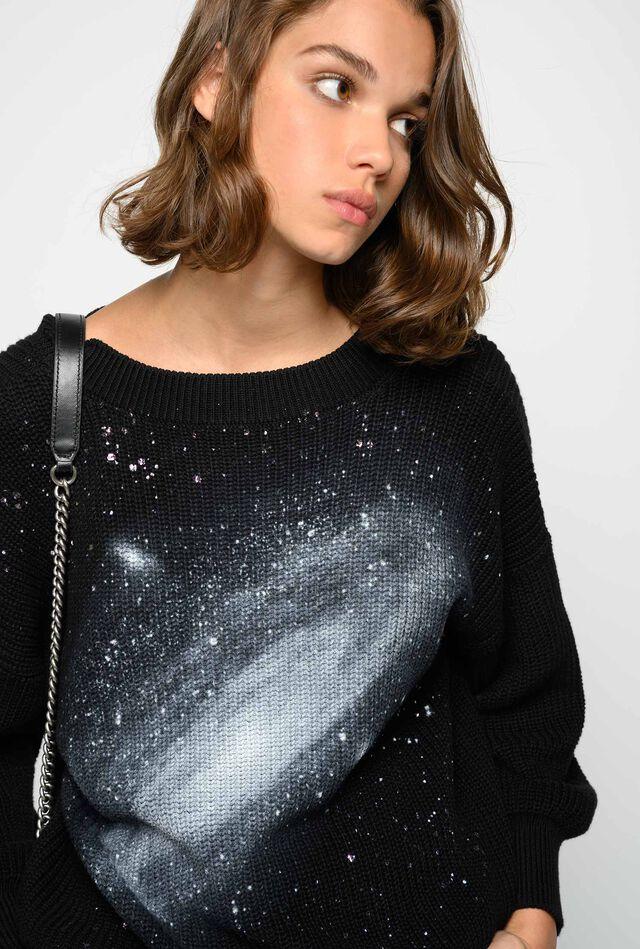 Pullover stampa galassia