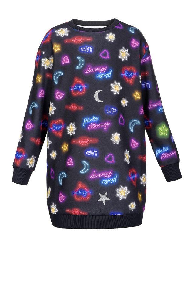 Dress in neon print fleece