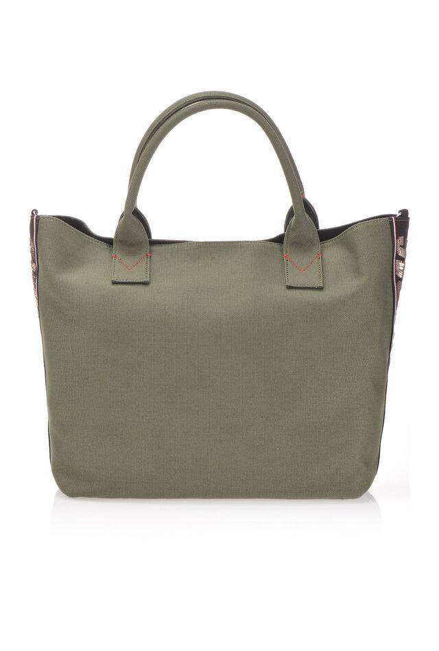 Maxi shopping bag in canvas