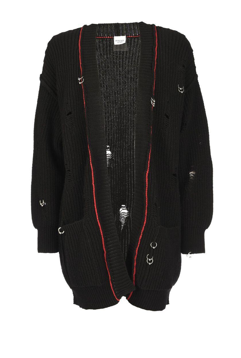 Cashmere-blend maxi cardigan