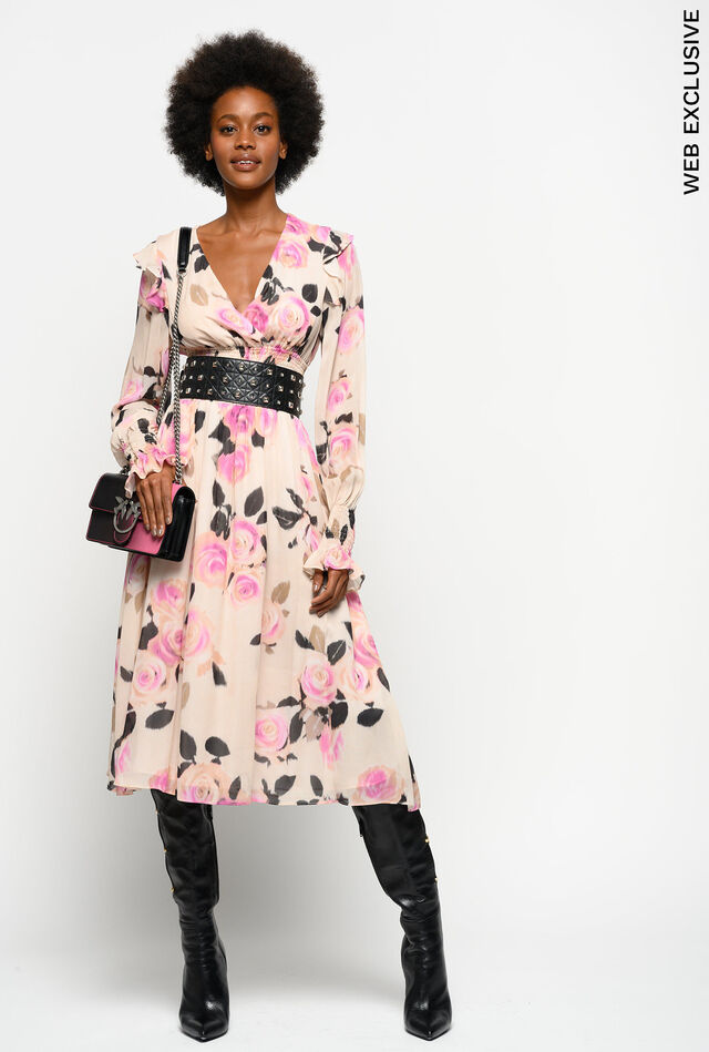 Chiné floral print dress